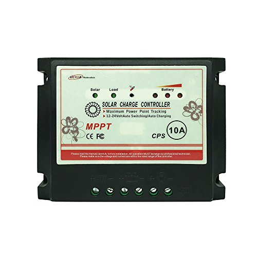 APINEE 10A MPPT 12V/24V Solar Charge Controller Fully Automatic Operation with USB port Eco-worthy by APINEE