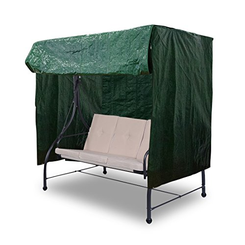 APARESSE Outdoor 3 Triple Seater Hammock Swing Glider Canopy Cover, All Weather Protection, Water Resistant, 96