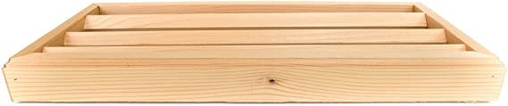 Pack of 2-16 x 8 Cedar wood foundation vent for crawel space ventilation