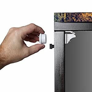 Safety Baby Magnetic Cabinet Locks - No Tools Or Screws Needed (4 Locks + 1 Key)