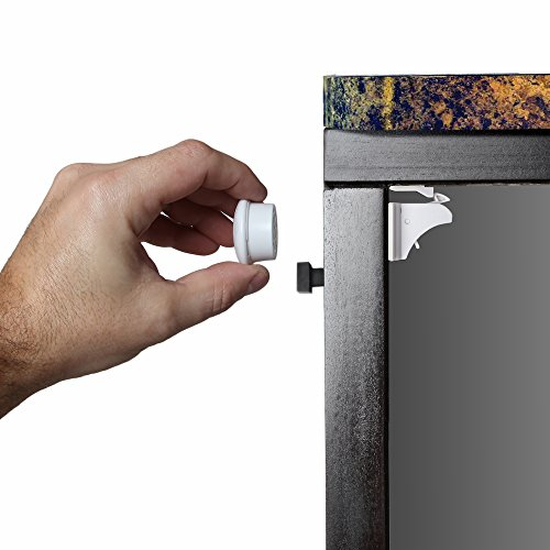 Jambini Magnetic Cabinet Locks - Child Safety Locks | Baby Proofing Cabinets System (4 Locks + 1 Key)