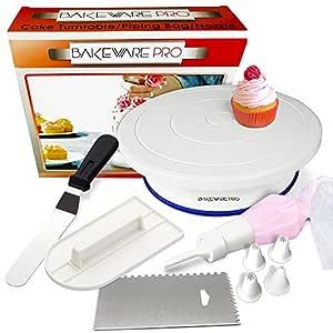 Soporte para tartas giratorio Tocadiscos con manga pastelera de ...