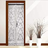 Analisahome Static Cling Glass Film Old for Usage Privacy Window Film Decorative Window Film W38.5 x H77