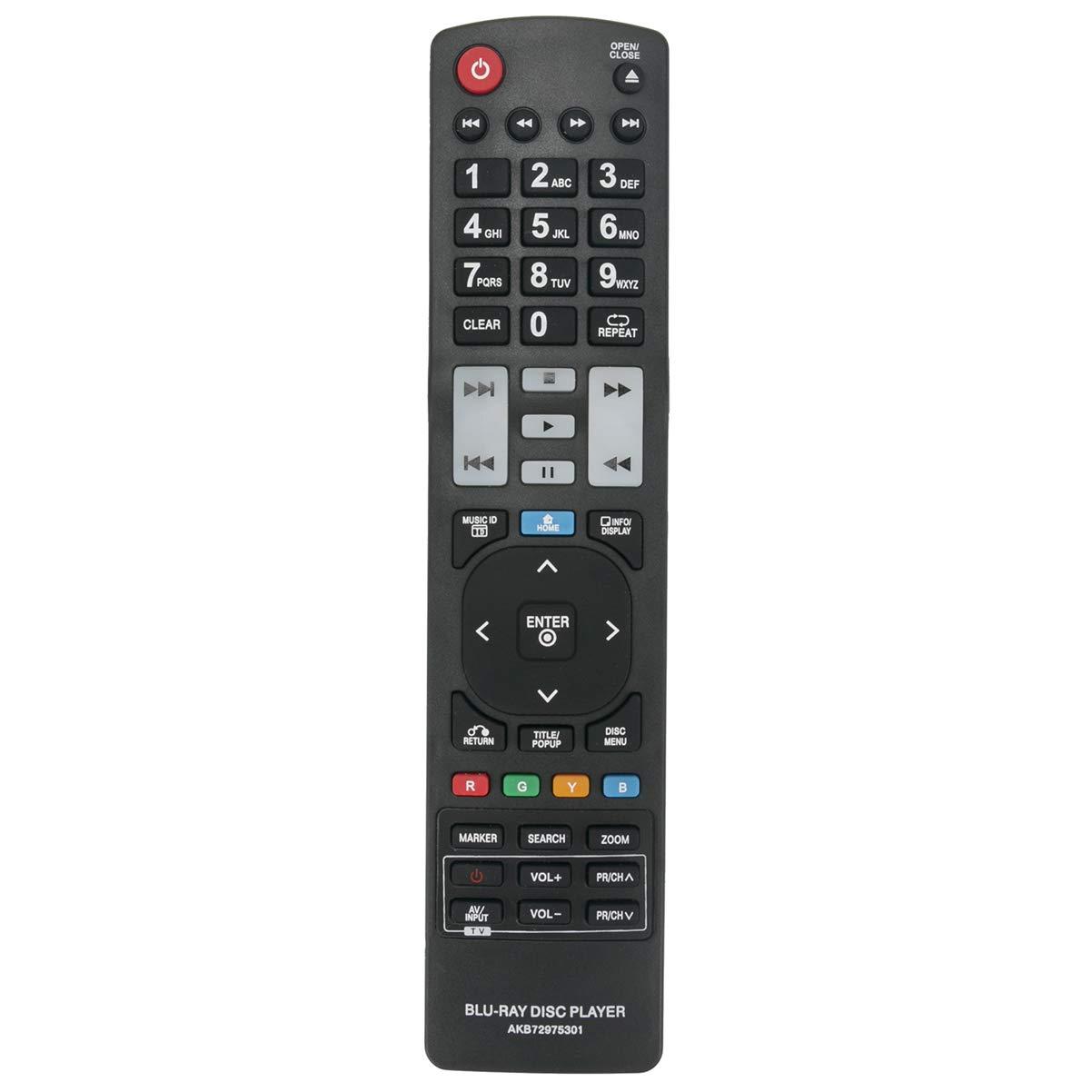Control Remoto AKB72975301 LG BD590 BX585 BX580 BD570 BD5...