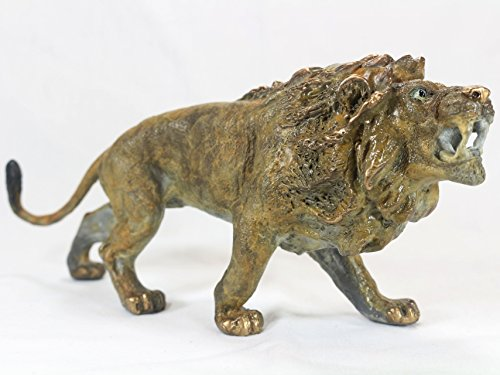 Lion Cat Bronze Figure Statue