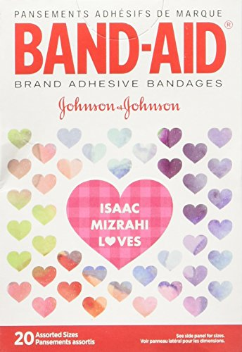 Band-Aid Decorated, Assorted 20 Count, Colors and Styles May Vary Designer Bandages