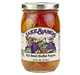 Jake & Amos Mild Sweet Stuffed Peppers 16 oz. (3 Jars)