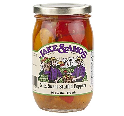 Jake & Amos Mild Sweet Stuffed Peppers 16 oz. (3 - Stuffed Sweet