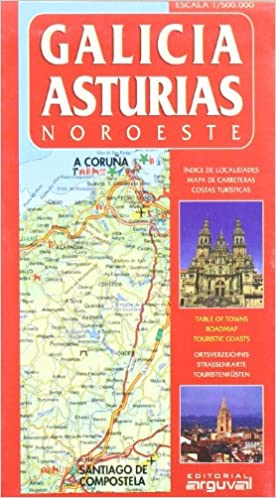 Mapa De Carreteras Galicia.Mapa Galicia Asturias Noroeste Mapas De Carreteras Amazon
