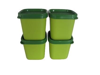 TUPPERWARE Set de 4 Flaneros Microvapor 101° de 80 ml verde: Amazon ...