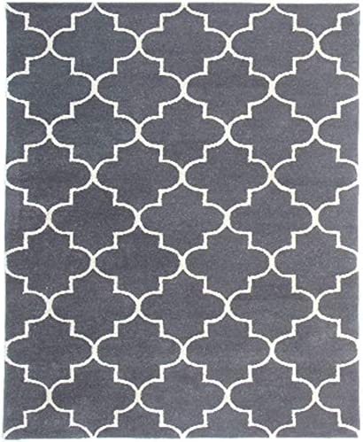 Wolala Home Moroccan Tufted Cotton Handmade Woven Rug Comfortable Indoor Floor Carpet for Bedroom,Living Room,Children Playroom 4 x 6 , Blue