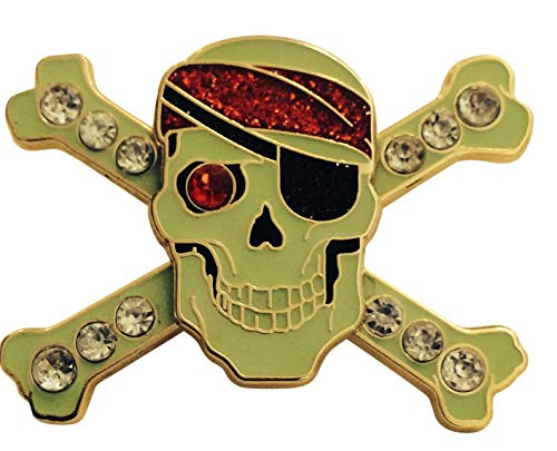 Pirates of the Caribbean POTC Jeweled Crossbones Disney Pin