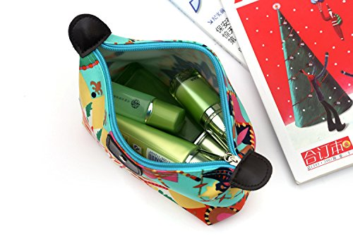 HOYOFO Women's Travel Cosmetic Bags Small Makeup Clutch Pouch Cosmetic and Toiletries Organizer Bag (Z set)
