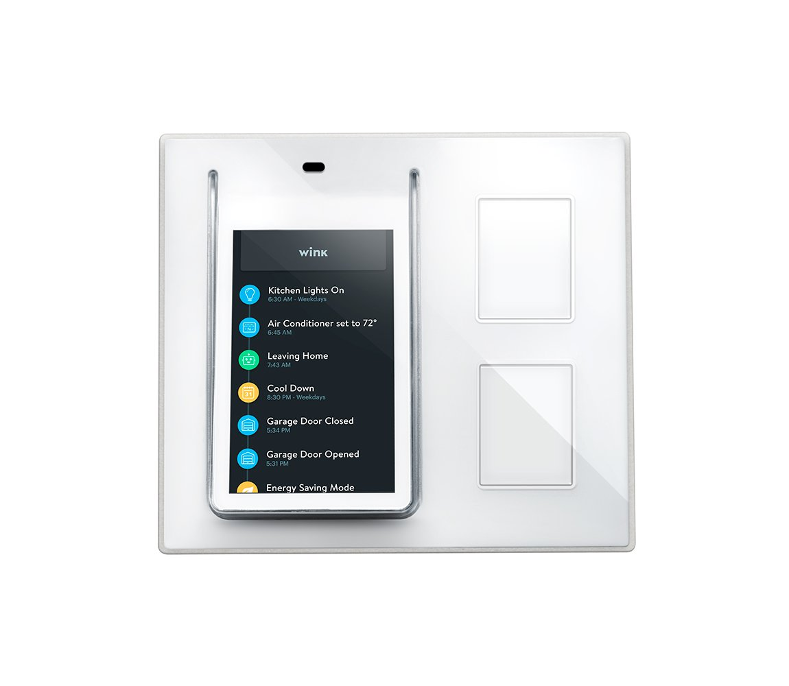 Wink Relay - Smart Home Touchscreen Control Panel - Intercom - 2x smart light switches (Shown in Image)