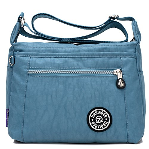 Bag Small TianHengYi Light Cross Girls body Handbags Nylon Pockets Shoulder Blue Casual amp; Multi Lightweight Purses qnwCHEYwx
