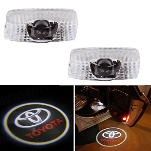 AMINEY 2 Pcs Door Welcome Lights Ghost Shadow Logo Light for Toyota, Easy Installation