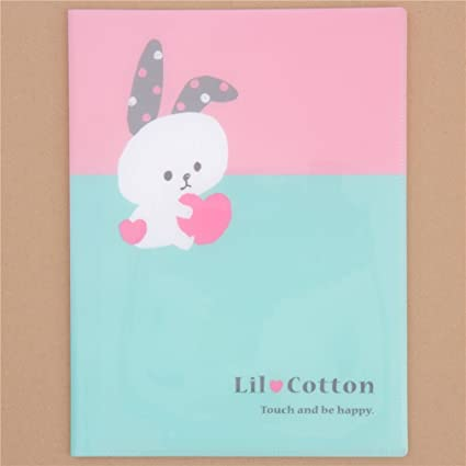 Carpeta archivador A4 rosa verde lindo conejo panda gato 10 ...
