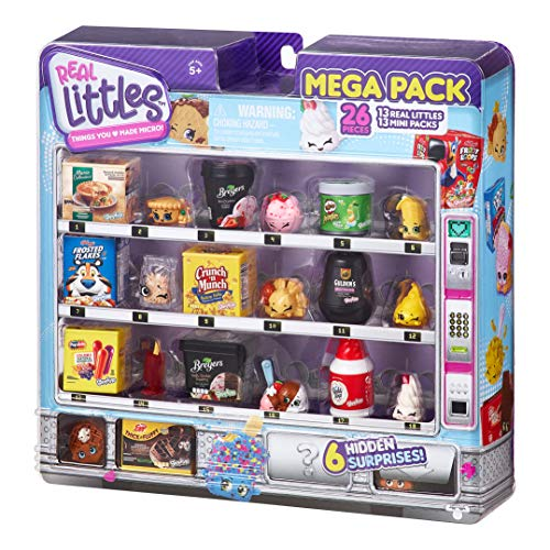 Shopkins Real Littles Mega Pack. 13 and 13 Real Mini Packs (26 Total Pieces). Style May Vary, Multicolor (57797)
