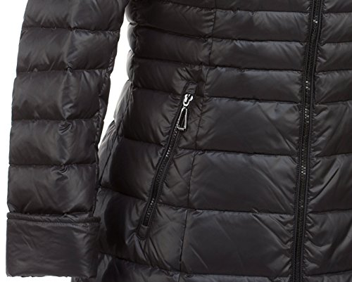 cuello negro negro M304 abrigo de VLASTA real piel con mujer de xqEEZw