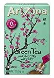 AriZona Green Tea with Ginseng Sugar Free Iced Tea Stix, 10 Count Per Box (Pack of 6), Low Calorie Single Serving Drink Powder Packets, Just Add Water for a Deliciously Refreshing Iced Tea Beverage