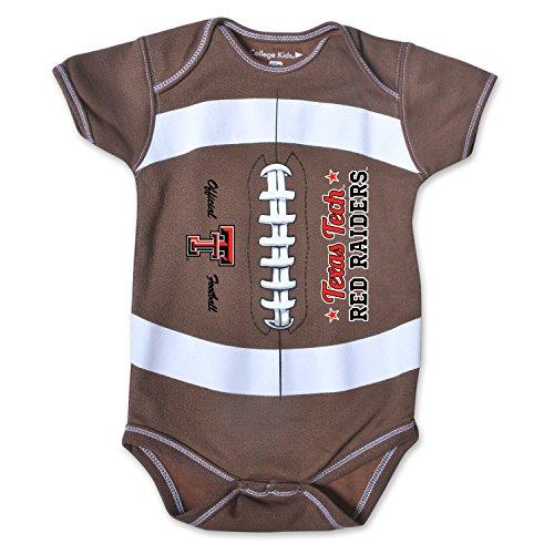 NCAA Texas Tech Red Raiders Kids MVP Football Bodysuit, 18 Months, Brown