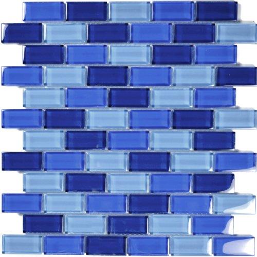 Cobalt Blue Glass Tile Blend 1