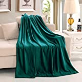 "Luxury Flannel Velvet Plush Throw Blanket – 50"" x 60"" (Teal) by Exclusivo Mezcla"