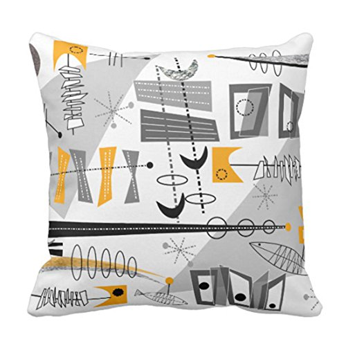 Emvency Throw Pillow Cover Atomic Era Inspired Abstract Decorative Pillow Case Retro Home Decor Square Cushion Pillowcase 51Gd9 2BSWwmL