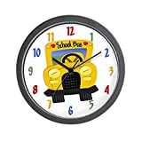CafePress – Yellow School Bus Wall Clock – Unique Decorative 10″ Wall Clock For Sale
