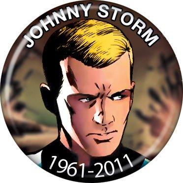 2011 Pinback Button - The Human Torch - J. Storm 1961-2011 - Marvel Comics - Pinback Button 1.25