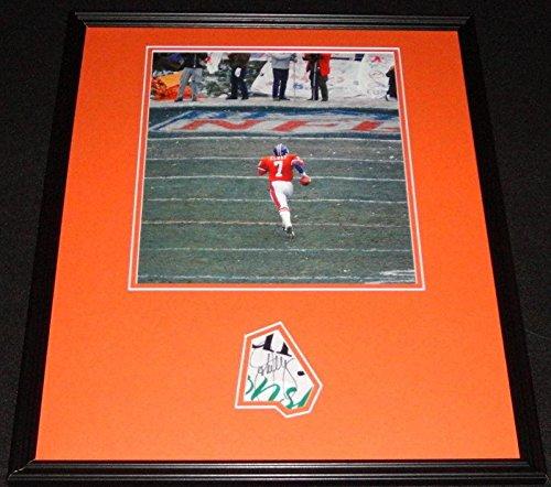 (Signed John Elway Photograph - Framed 16x20 Poster Display Stanford C - JSA Certified - Autographed NFL Photos)