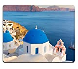 Mousepads World famous traditional whitewashed chuches and houses of Oia village on Santorini IMAGE 33927602 by MSD Mat Customized Desktop Laptop Gaming Mouse Pad