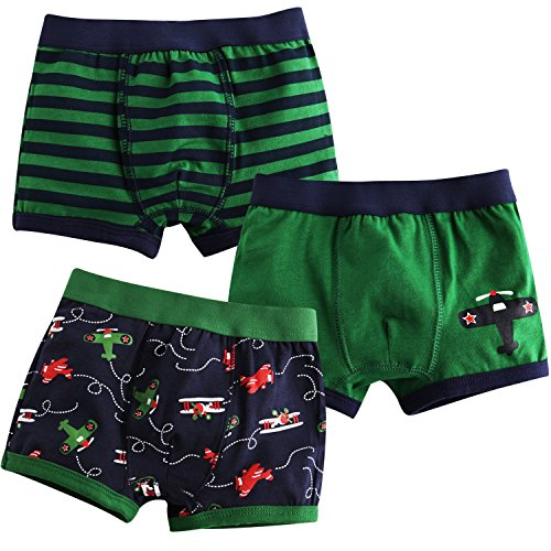 Jojobaby Baby Toddler Kids 2T-7T Boys Boxer Brief 3-pack Underwear Set 90cm 2T