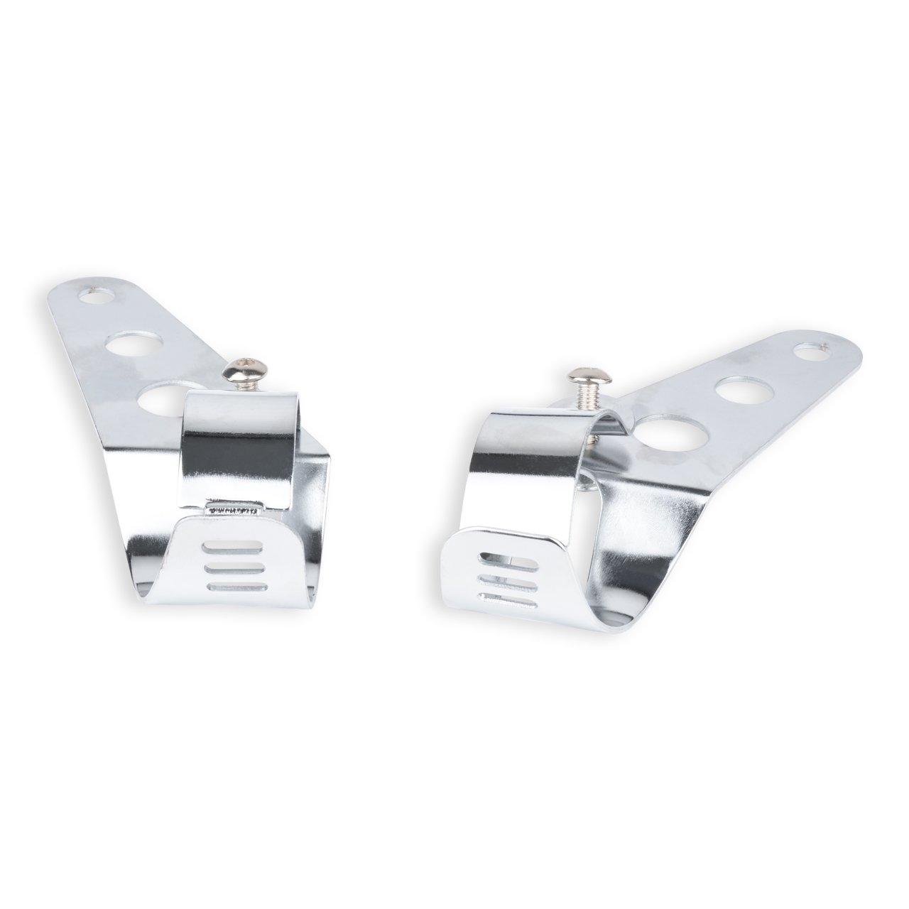 51/ mm pour Moto Street Bike Cafe Racer Harley Davidson TUINCYN Moto Universel Phare Montage Fourche Clamp Bracket Chrome Argent Tubes de Fourche 38