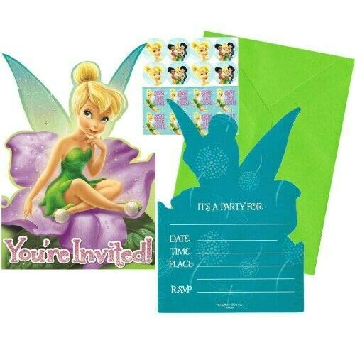 Disney Fairies Tinkerbell Birthday Invite 16 Count]()