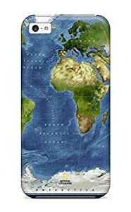 Iphone 5c Case Bumper Tpu Skin Cover For Map Accessories