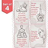Throwback Traits Inspirational & Motivational Hatha Yoga Poster. Spiritual Artwork, And Energy Healing Meditation Art. Wall Art Perfect for Gym Posters.