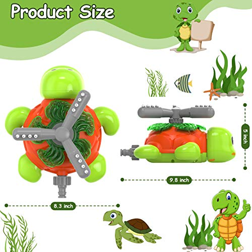 Kiztoys Water Sprinkling Turtle Toy Sprinkling Turtle Toy for Children , Spinning and Splashing Turtle, Splash And Spray Beach Ball Sprinkling Water Toy, Fun Toy for Kids Outdoor Play