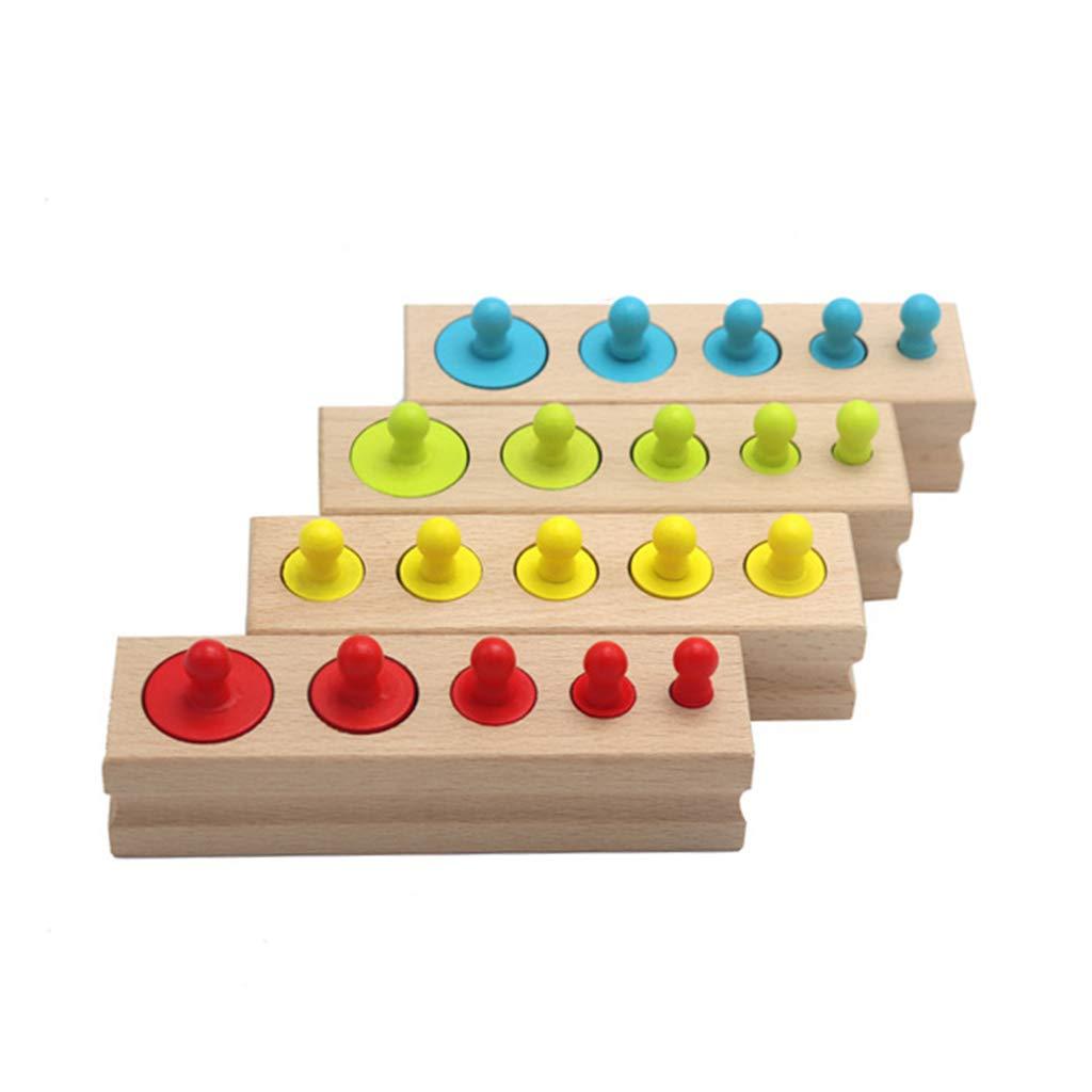 Juegos de Material Montesori Beb/é Juguetes educativos para ni/ños de la citivita M/étodo de la Pedagog/ía Montesori only y Cilindros de Madera Tri Montessori con Tarjeta