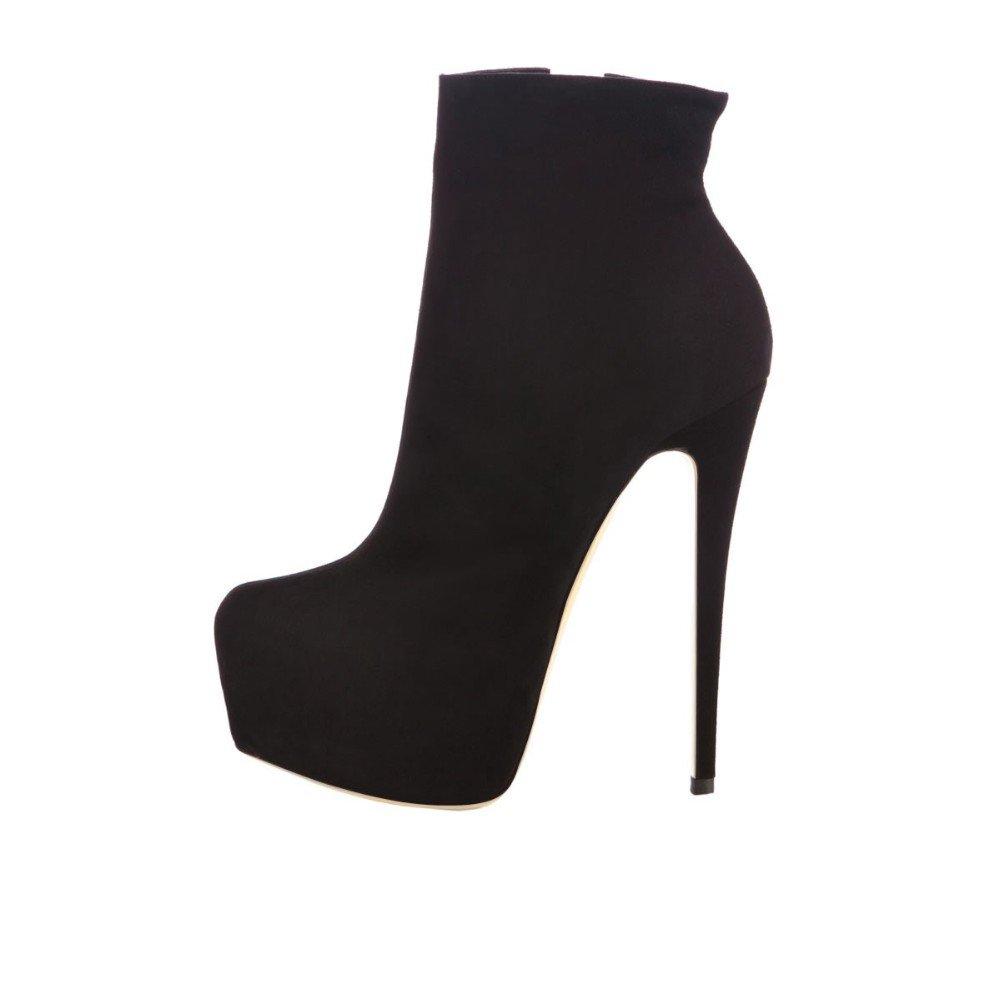 Kolnoo Damen Pumps Stiletto Stiefel High Heels Kurzschaft Stiefelette Stiefel Stiefel Stiefel Schuhe mit Plateau Rot 7df431