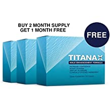 Titanax Buy2 Get 1 Free- Natural Male Enlarging and Enhancement Supplement. Clinically Proven Ingredients . Proprietary Blend of L-Arginine and Korean Ginseng. 3 Box Supply