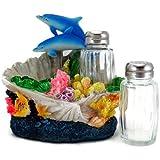3D Dolphin Coral Reef Ocean Salt & Pepper Shakers Table Set by IAC International