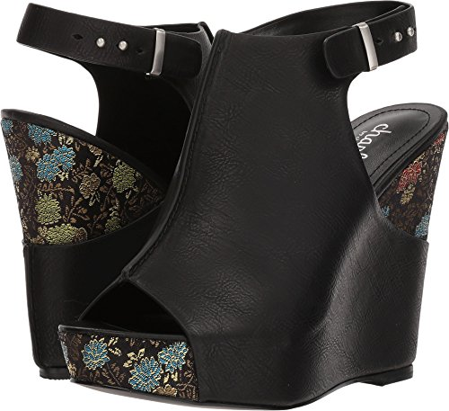 Charles by Charles David Women's Ames Black Floral Embroidery 8 M US