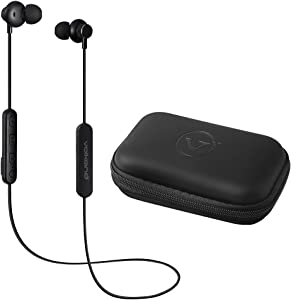 Volkano X True Stereo Sound Neckband Bluetooth Earphones, 6-Hour Long Playtime, Tangle-Free Magnetic Earbuds, Hard Carry Case, Compatible with iPhone/Android/Siri/Google Assistant - Asista E01 Series