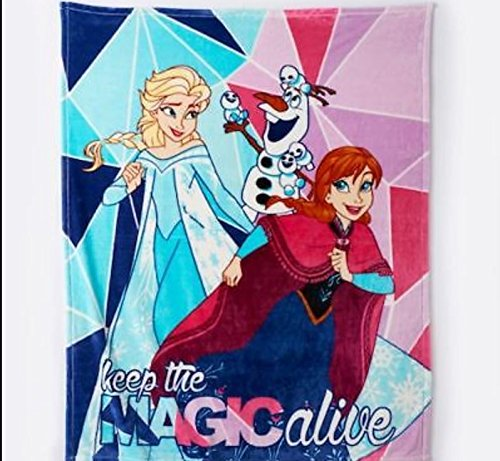 Disney Frozen Keep The Magic Alive with Elsa, Anna & Olaf Plush Blanket Throw
