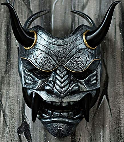 Amazon.com: tripple_777 Samurai Assassin Demon Oni - Máscara ...