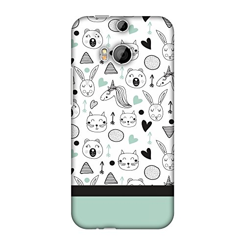 AMZER Slim Fit Handcrafted Designer Printed Snap On Hard Shell Case Back Cover for HTC One M8s, HTC One M8 Eye, HTC One M8 - Unicorns HD Color, Ultra Light Back Case
