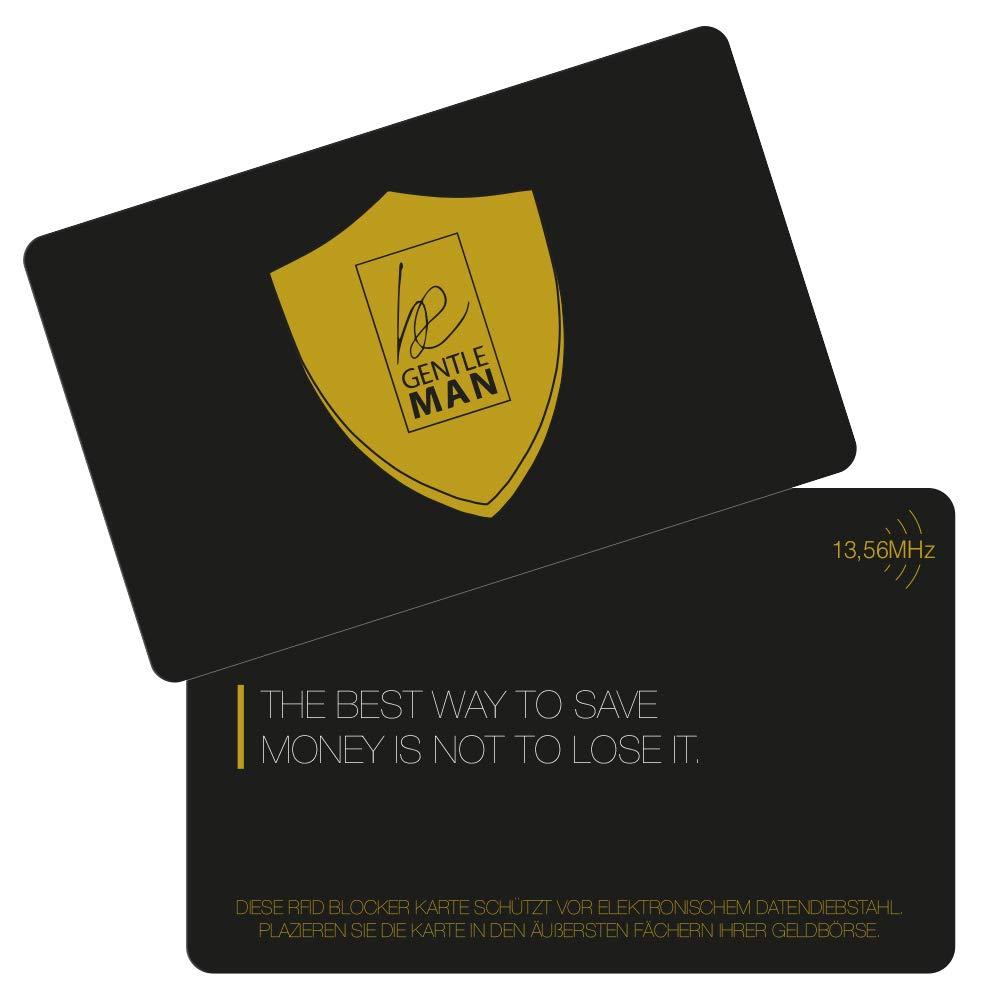 2er-Set RFID /& NFC-Blocker-Karte im Scheckkarten-Format RFID Schutz