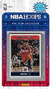 Washington Wizards 2017 2018 Hoops NBA Basketball Brand New Factory Sealed 8 Card NBA Licensed Team Set with John Wall Bradley Beal Plus