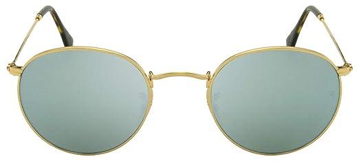 Óculos de Sol Ray Ban Round Flat Lenses RB3447N 001 30-50  Amazon ... bac26f53c3